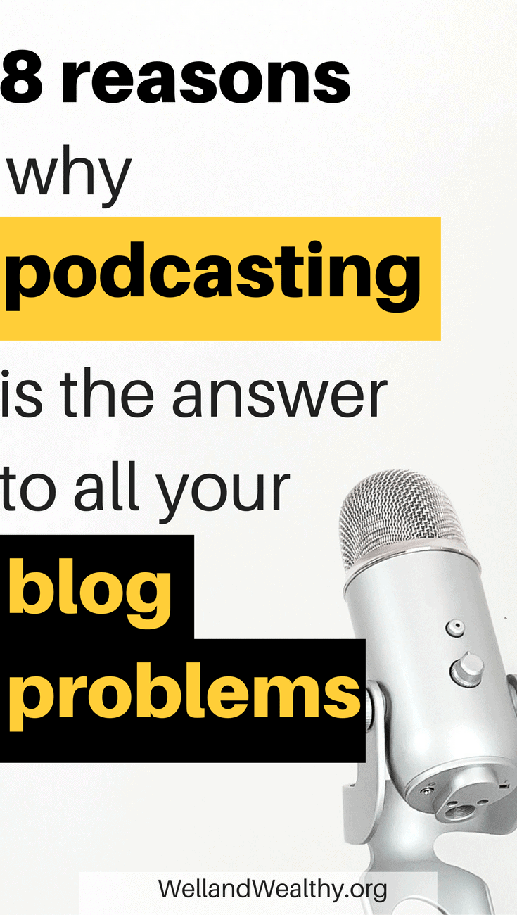 Podcasting is hot right now. But did you know that podcasting could be the quick and dirty answer to getting that blog traffic and monetizing. Find out how and why you NEED to be in podcasting in this post! | How to start a podcast | Podcasting for women | Podcasting microphone | Podcast tips | Blog podcast tips | How to increase blog traffic | How to monetize your blog |