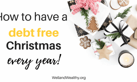 How to have a debt free Christmas every year!