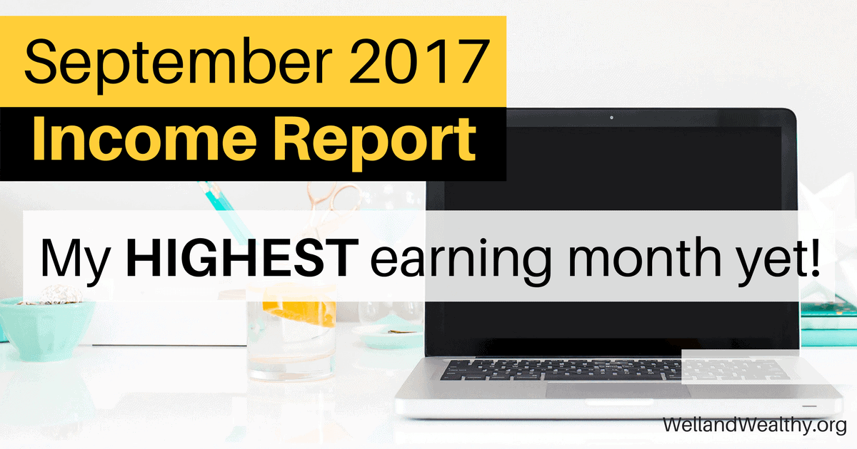 September 2017 Income Report: My Fourth Month Blogging