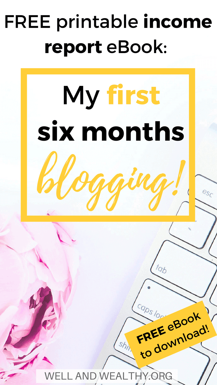 Do you want to make money at home? Do you want to make money online or make money from blogging? Then check out my FREE First Six Months Blogging Income Report Roundup Ebook. I go through all my 2017 blog income reports in great details to help you! This is an awesome printable ebook designed to show you a realistic view of what you can do in your first six months blogging. I include information to help beginner bloggers, blogging tips and how to get traffic from Pinterest.