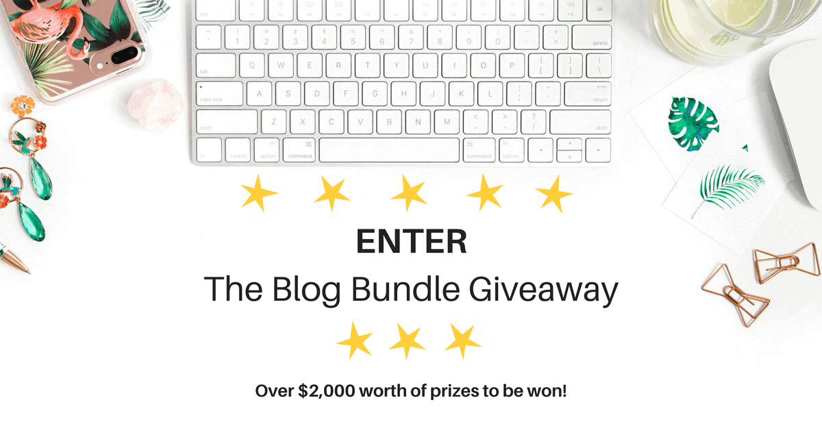 Blog Bundle Giveaway: Win everything you need to start a blog!