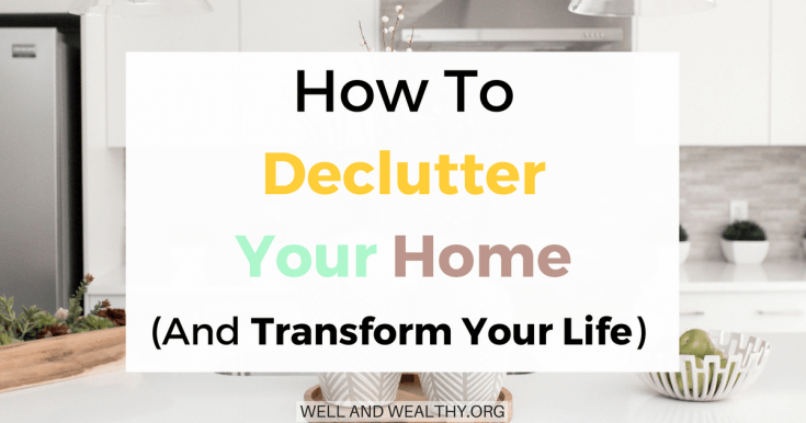 When I decluttered my home the effect was incredible. I instantly felt better, my depression improved and I had more time! So I'm going to show you how to declutter your home and transform your life! I'm now moving towards minimalism and living a more minimalist life because of the benefits. Here is a decluttering plan, with plenty of decluttering tips and ideas to stop you from feeling overwhelmed, and simplify and organise your home.