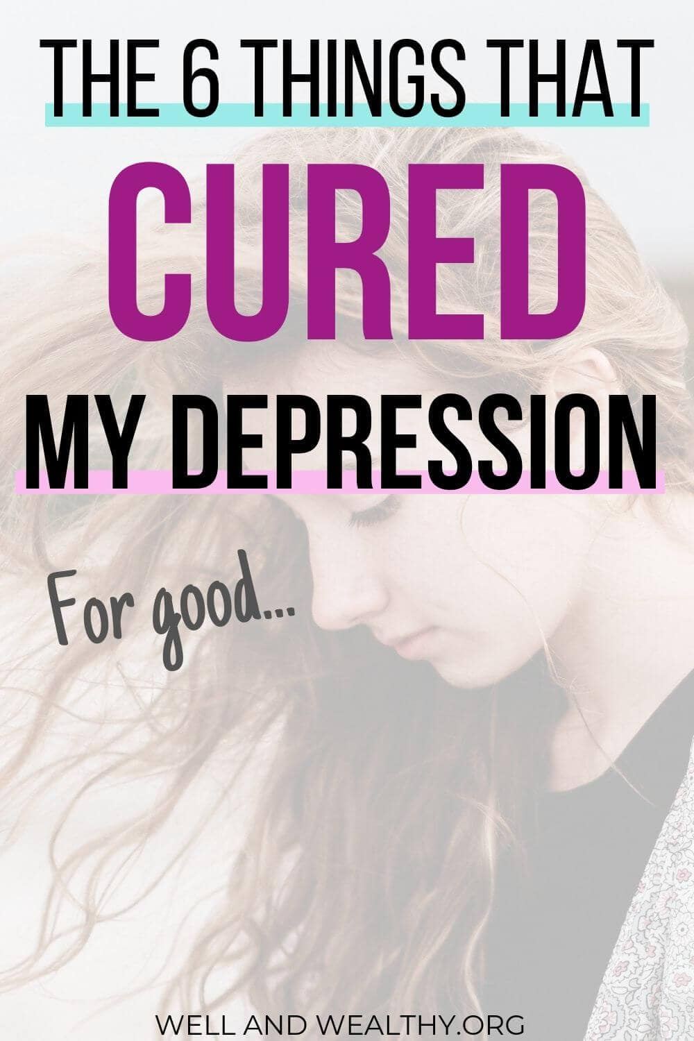 Find out the 6 things that helped me overcome depression! That's right, it is possible to naturally beat depression and in this post I give you my best recovery tips to help you get over depression and anxiety and start living your life again!