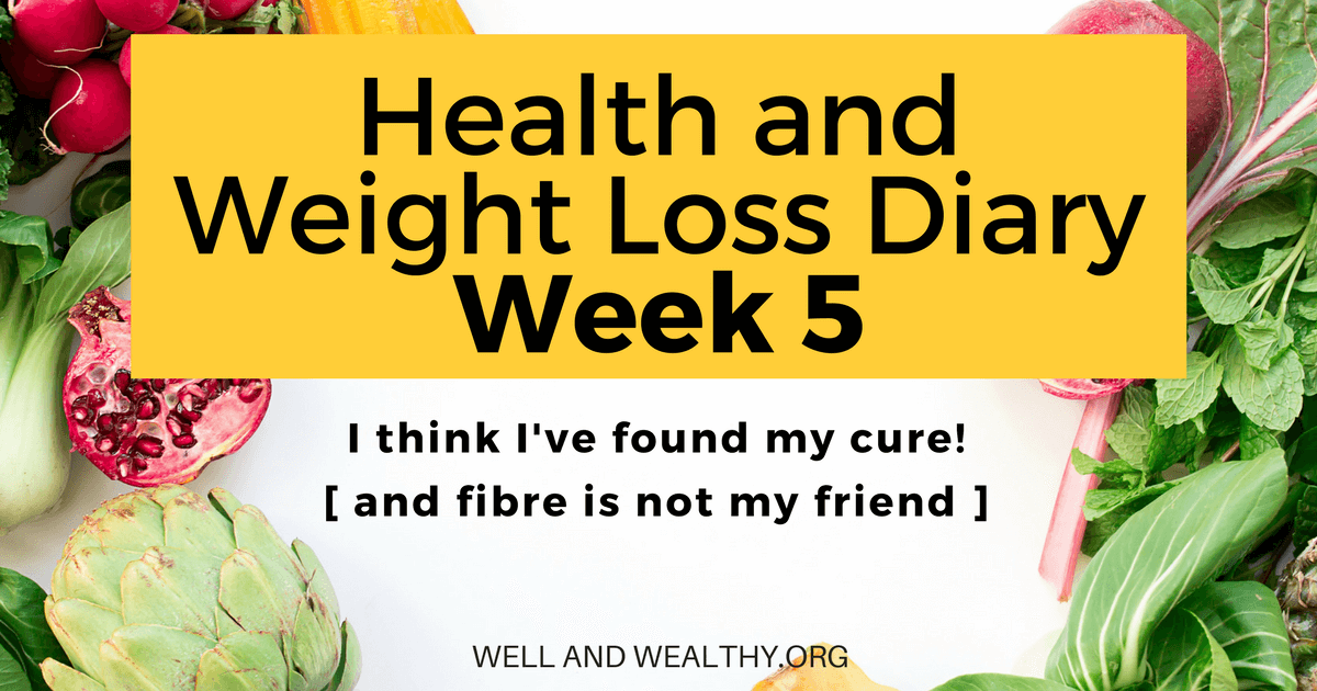 Fibre Is Not My Friend! (Week 5 of Health and Weight Loss Diary)
