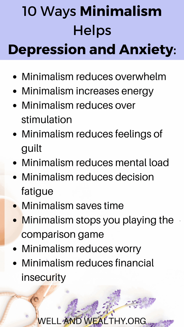 10 simple ways minimalism can stop depression and anxiety
