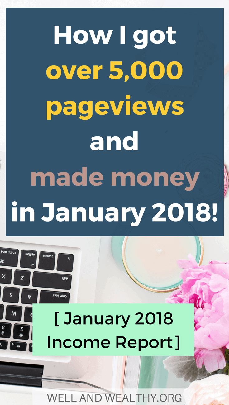 My January 2018 blog income report is published! I talk about how I made money blogging and how I grew my email list with a giveaway! So if you are looking to check out a blogging income report full of tips about making extra money then click on the pin! #incomereport #blogincomereport #bloggingtips