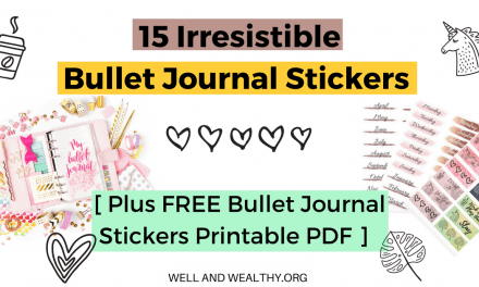 15 Irresistible Bullet Journal Stickers (plus FREE bullet journal stickers printable PDF)