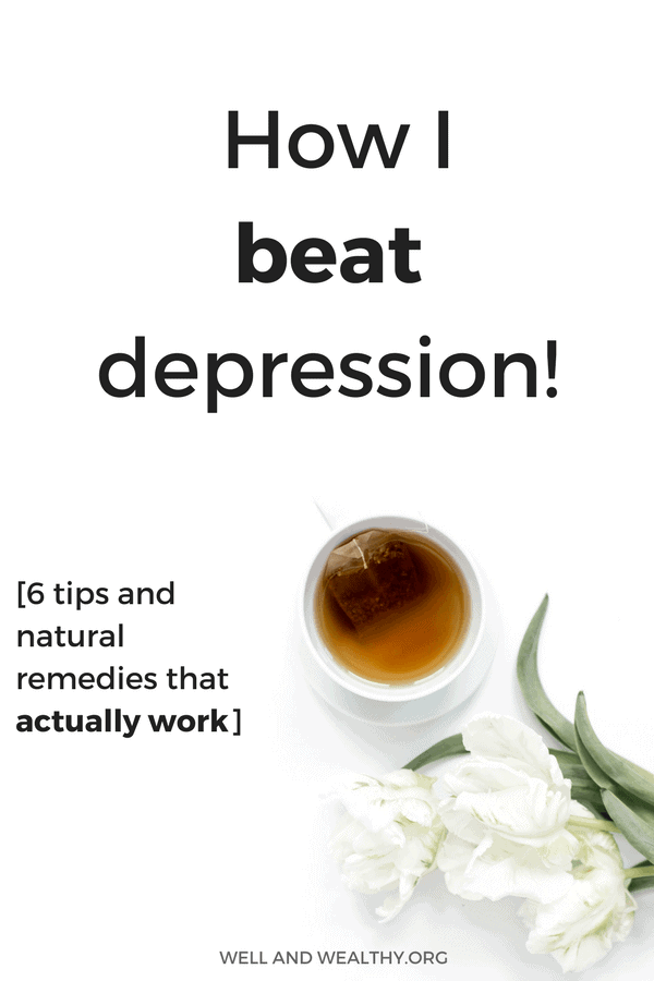 Find out the 6 things that helped me overcome depression! That's right, it is possible to naturally beat depression and in this post I give you my best recovery tips to help you get over depression and anxiety and start living your life again! Learn how to beat depression without medication with these depression recovery remedies because overcoming depression is possible for you! #depression #anxiety #mentalhealth
