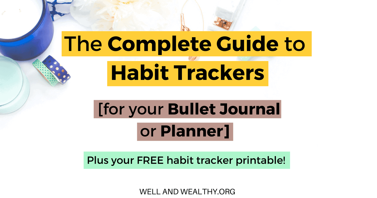 image regarding Habit Tracker Free Printable named The Detailed Expert in direction of Practice Trackers for your Bullet Magazine