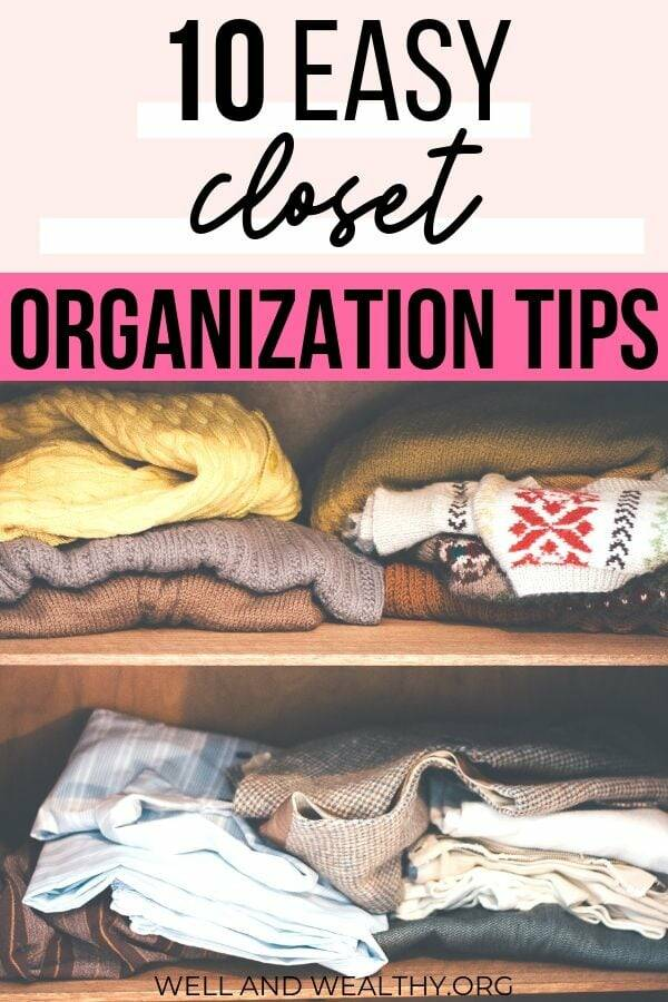 Want to learn how to completely sort out your closet, then this post is for you! Full of easy closet organization tips to help you organize your closet and declutter your clothes. This post will explain how to completely organize your wardrobe and give you plenty of how to organize your closet and clothes ideas! #closetorganization #wardrobetorganization #closetdeclutter #wardrobedeclutter #capsulewardrobe