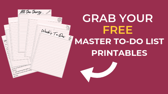 GRAB your FREE Master To-Do List Printables 2