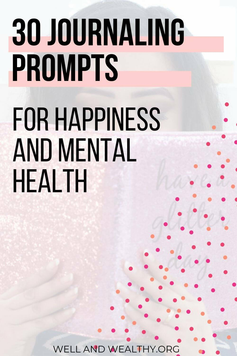 Looking for mental health journaling prompts? Whether you're searching for daily journaling prompts for happiness to help in overcoming depression, daily journaling prompts for anxiety or mental health journal prompts ideas this post has it all! Inspiration for creative, self-love prompts for beginners, for depression or for mindfulness! PLUS grab your FREE journaling prompts PDF and 30-Day Journaling Workbook! #journalingprompts #journalprompts #journaling #selfcare