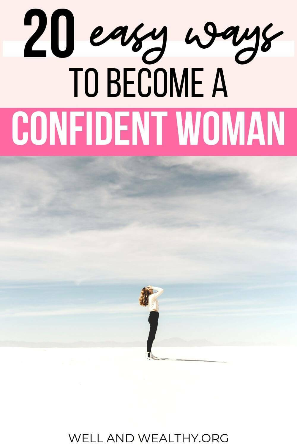 If you're looking for tips on how to be a confident woman then this post will help you! Whether you want more confidence in yourself, for when you're around people or at work these self esteem boosting will work for you. #confidence #confident #success