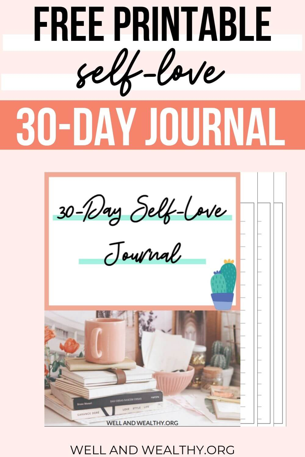 Looking for self love journaling prompts? Or a self love journal ideas free printable? Then this post is exactly what you need! Full of self-love journal inspiration to help you gather your thoughts, improve mental health, have fun, enjoy life and help you improve your realtionships with other people. PLUS grab your FREE 30 days of self-love challenge journal with the 30 day self love printable PDF journal. #selflove #journaling #journalprompts