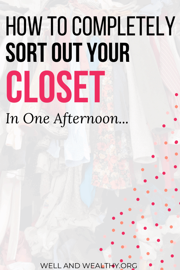 Want to learn how to completely sort out your closet and how to organize closet clutter? Then this post is for you! Full of easy closet organization tips to help you organize your closet and declutter your clothes. This post will explain how to completely organize your wardrobe and give you plenty of how to organize your closet, how to organize your closet declutter and clothes ideas! Read this for how to roganize your closet tips! #closetorganization #wardrobetorganization #closetdeclutter #wardrobedeclutter #capsulewardrobe