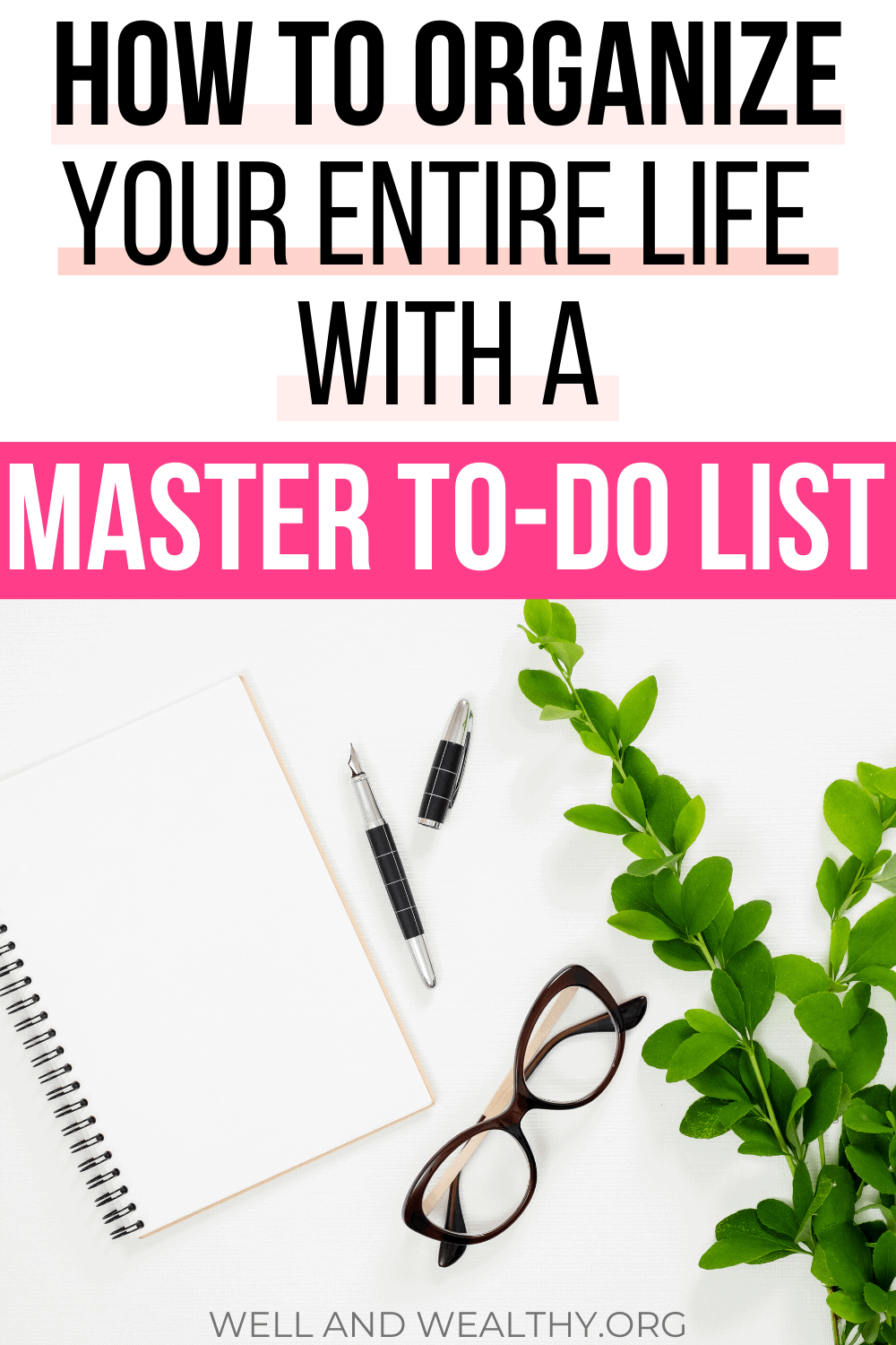 Want to learn my secret to getting everything done? All my to-do list organization ideas? How I get organized and how you can organize everything in your life? Then you need this post where I teach you how to organize your life with a master to do list! Plus grab your master to-do list FREE printable. No more confusion over organization, time management, gaining motivation, or anything else. A master to-do list handles everything and will become your secret productivity weapon! #todolist #getorganized #printable #organizing